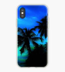 Palm Paradise - Blue and Green iPhone Case