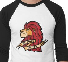 He Lives In You Men's Baseball ¾ T-Shirt