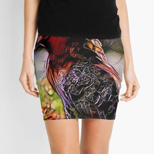Redreaming Deep Dreamed Redtailed Hawk  Mini Skirt