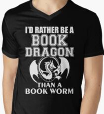 Id Rather Be A Book Dragon... Men's V-Neck T-Shirt