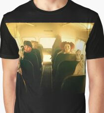 Masked School Bus Goers Graphic T-Shirt