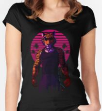 Midnight Animal - Tiger Women's Fitted Scoop T-Shirt