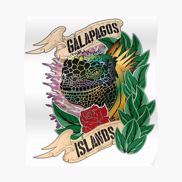 Marine Iguana of Galapagos  Poster