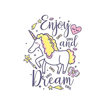 Enjoy and Dream. Magical unicorn by InnaQueen