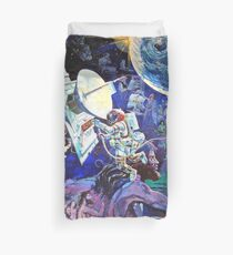 Spaceship Earth Mural Duvet Cover