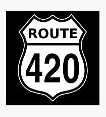Lámina fotográfica Ruta 420 Signo de carretera estadounidense Cannabis
