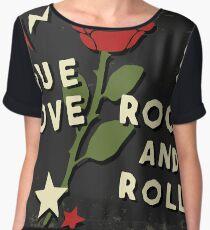 Grunge rock slogan print Chiffon Top