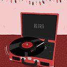 Retro Vinyl Record Player Illustration by Bronte Carr