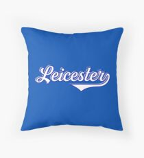 Leicester  England - Vintage Sports Typography  Throw Pillow