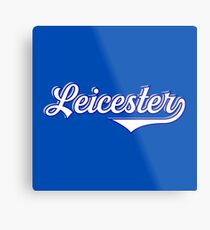 Leicester  England - Vintage Sports Typography  Metal Print