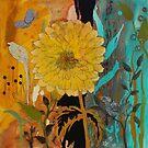 Big Yella Sunflower and Bird by RobinPedrero