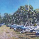 Weston Shore boats at yacht club, Southampton by martyee