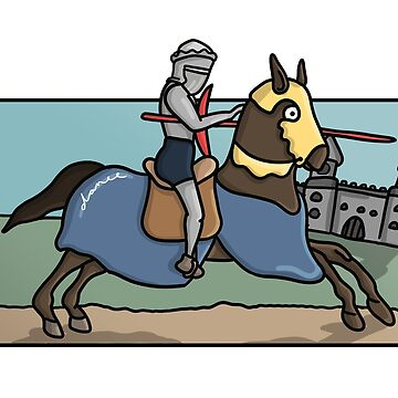 Jousting Knight Comic by DMJADESIGN