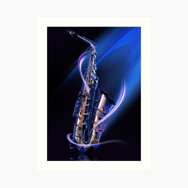 Magical Saxophone Art Print
