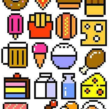 8 bit Foodie v2 by artlahdesigns