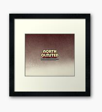 North Olmsted, Ohio   Retro Stripes Framed Print