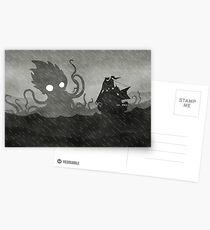 Postales Rainy Ship & Kraken