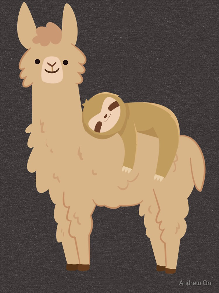 Adorable Sloth Relaxing on a Llama by Soulfire86