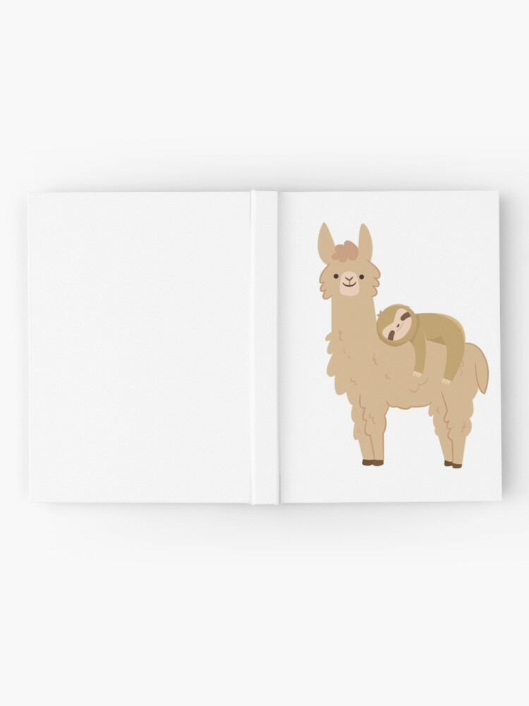Alternate view of Adorable Sloth Relaxing on a Llama Hardcover Journal