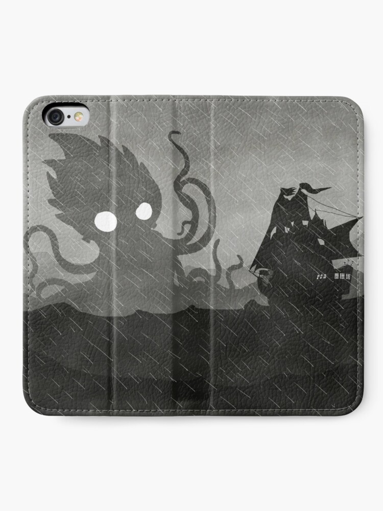 Alternate view of Rainy Ship & Kraken iPhone Wallet