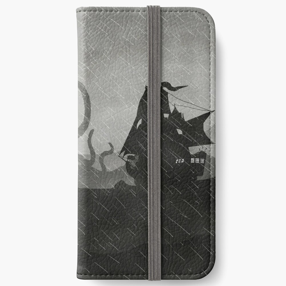 Rainy Ship & Kraken iPhone Wallet