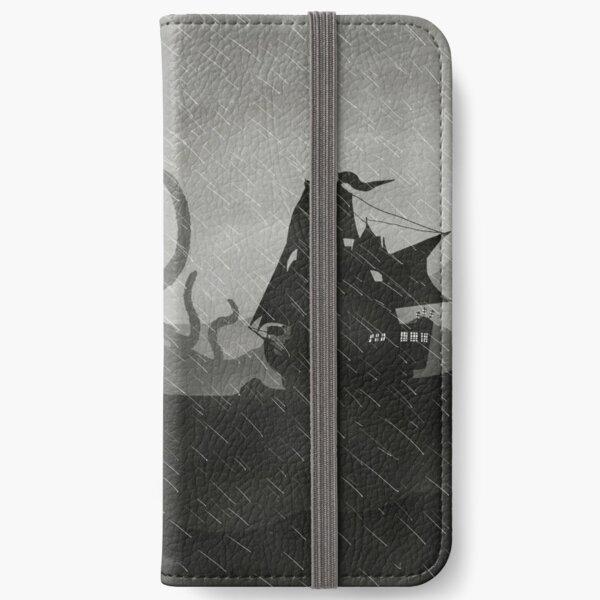 Rainy Ship & Kraken iPhone Wallet