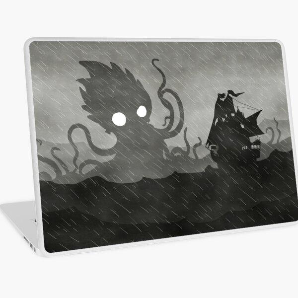 Rainy Ship & Kraken Laptop Skin
