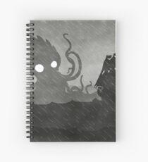 Rainy Ship & Kraken Spiral Notebook