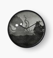 Rainy Ship & Kraken Clock