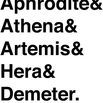 Helvetica Goddesses by mythsbaby