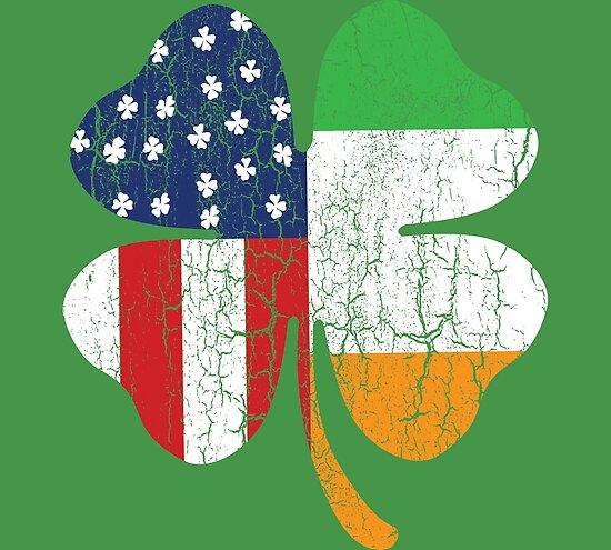 d22ef157e9d3 IRISH AMERICAN FLAG Ireland Shamrock St Patricks Day