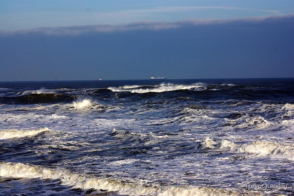 North Sea off Sandsend,North Yorkshire. by Trevor Kersley