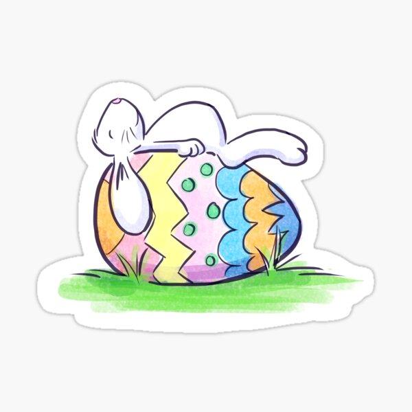 Sleeping Easter Bunny Sticker