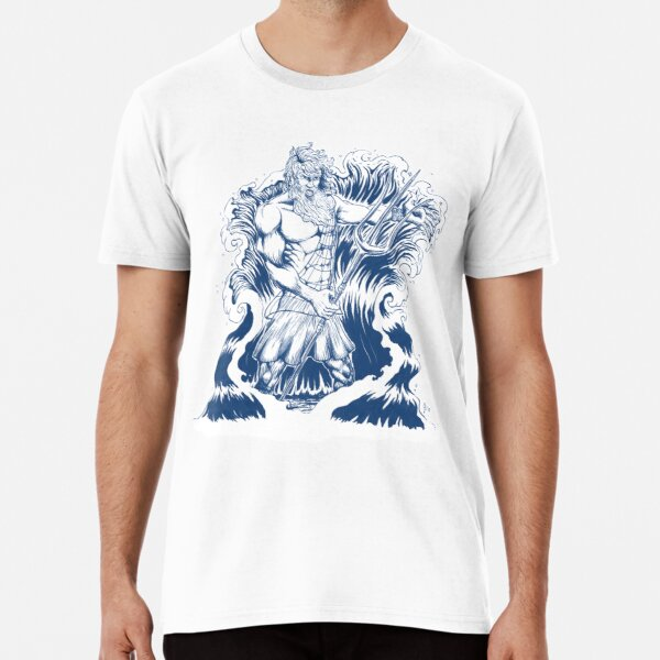 Poseidon in blue Premium T-Shirt