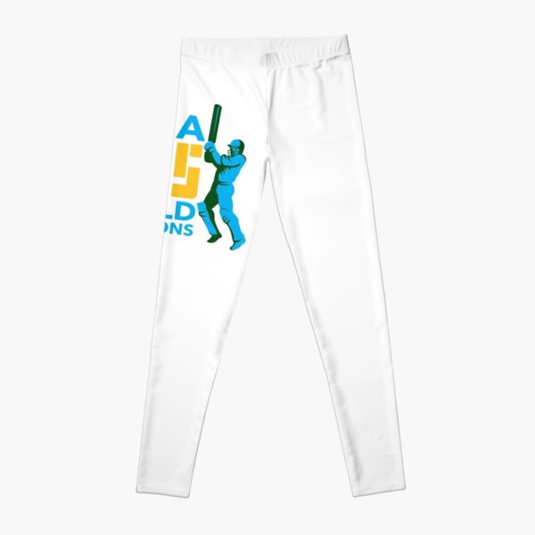 India Cricket 2015 World Champions Isolated Leggings