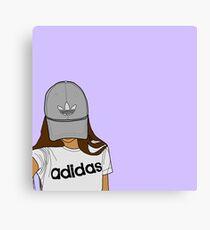 sporty girl Canvas Print