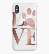 Love is a Four Letter Word - Marble and Rose Gold  iPhone Case/Skin