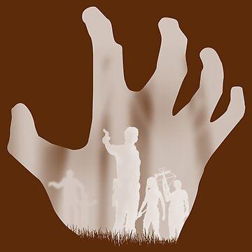 Walking dead illustration - white version by runningRebel