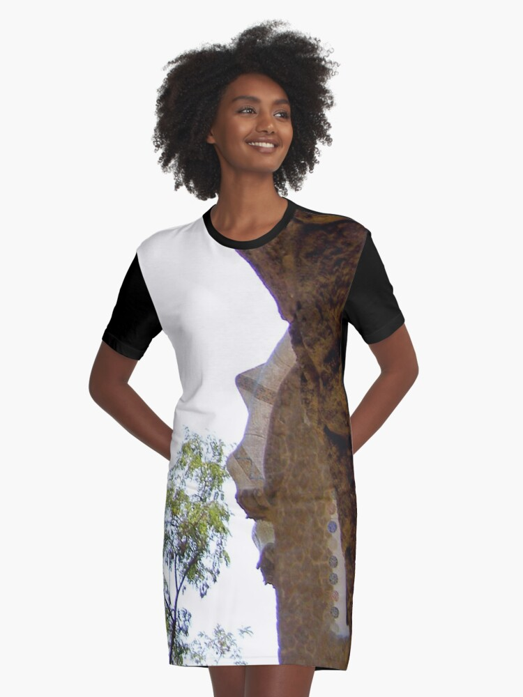 In the shadows Graphic T-Shirt Dress Front
