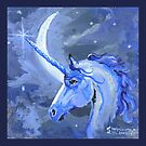 Lunar Unicorn by the Moon by Stephanie Small