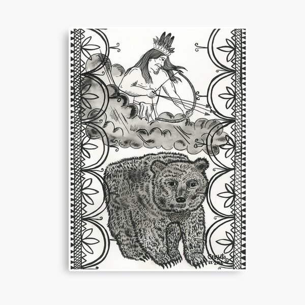 Thunder beings connect to the Bear Clan Canvas Print