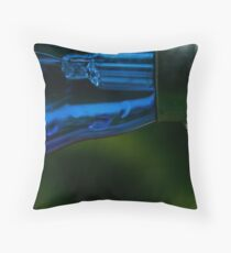 Blue bulb Throw Pillow