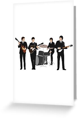 The beatles greeting cards by art fox redbubble the beatles by art fox m4hsunfo