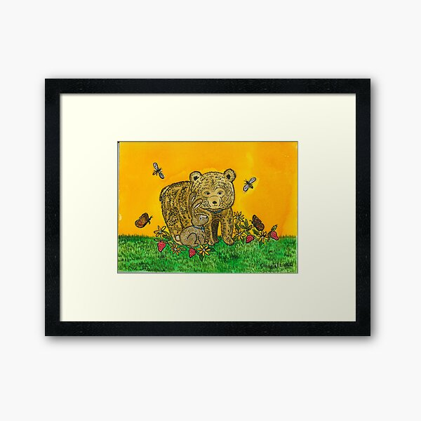 Bailey the Bear and Chloe the rabbit Framed Art Print