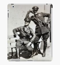 Campy Motorcycle Cops iPad Case/Skin