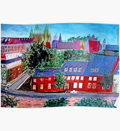 View  Upper  Quebec City    ( My Paintings )  Poster