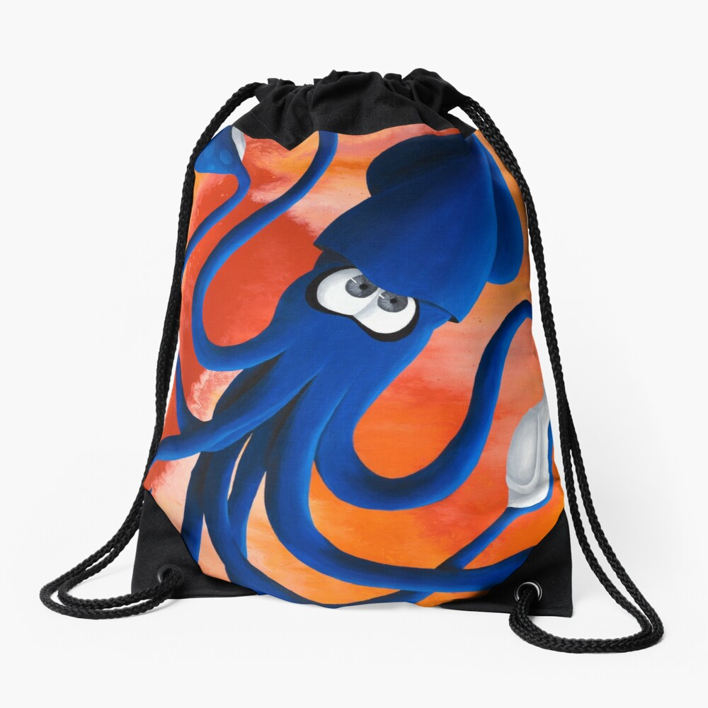 Squid Ink Drawstring Bag