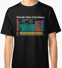 Periodic Table of Synthpop (dark background) Classic T-Shirt