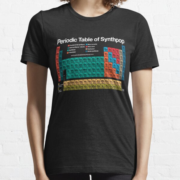 Periodic Table of Synthpop (dark background) Essential T-Shirt