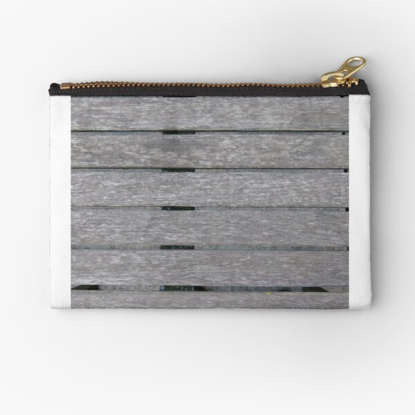 wood, Wall, New York, Manhattan, Brooklyn, New York City, architecture, street, building, tree, car,   Zipper Pouch